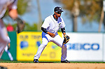 5 March 2009: Detroit Tigers' infielder Ramon Santiago in action during a Spring Training game against the Washington Nationals at Joker Marchant Stadium in Lakeland, Florida. The Tigers defeated the visiting Nationals 10-2 in the Grapefruit League matchup. Mandatory Photo Credit: Ed Wolfstein Photo