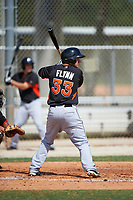 Miami Marlins Cameron Flynn (33) during a minor league Spring Training intrasquad game on March 31, 2016 at Roger Dean Sports Complex in Jupiter, Florida.  (Mike Janes/Four Seam Images)