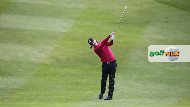 Kristoffer Broberg (SWE) plays second shot to the 8th during Round Two of the 2015 BMW PGA Championship over the West Course at Wentworth, Virginia Water, London. 22/05/2015Picture David Lloyd, www.golffile.ie.