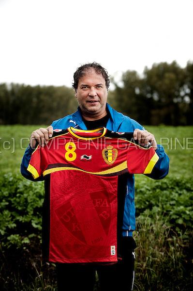 Football player Stéphane Demol (Belgium, 12/10/2012)
