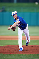 Oklahoma City Dodgers pitcher Eric Surkamp (41) delivers a pitch during a game against the Fresno Grizzles on June 1, 2015 at Chickasaw Bricktown Ballpark in Oklahoma City, Oklahoma.  Fresno defeated Oklahoma City 14-1.  (Mike Janes/Four Seam Images)
