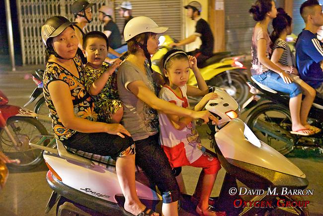 Family On Motor Bike