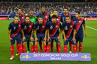 Arlington, TX - Saturday July 22, 2017: Costa Rica starting eleven during a 2017 Gold Cup Semifinal match between the men's national teams of the United States (USA) and Costa Rica (CRC) at AT&T stadium.