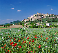 Italy, Umbria, Trevi: hilltop village is on the list of Italy's most beautiful villages | Italien, Umbrien, Trevi: Stadt in der Provinz Perugia, wurde in die Liste der schoensten Doerfer Italiens aufgenommen