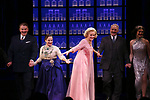 Douglas Sills, Patti Lupone, Christine Ebersole, John Dossett and Steffanie Leigh during the Broadway opening night performance curtain call for 'War Paint' at the Nederlander Theatre on April 6, 2017 in New York City