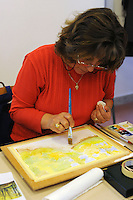 Corso di acquerello.Course of Watercolor..L' Università popolare di Roma si occupa della formazione permanente degli adulti. Fondata il 30 marzo 1987.Popular University of Rome is responsible for the adults education.Founded March 30 1987...