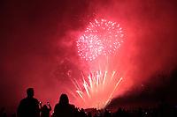 BOGOTA -COLOMBIA , 6- AGOSTO-2017.Con juegos pirotécnicos en el Parque Simón Bolívar, la capital de Colombia celebró sus 479 años de fundación. / With fireworks at Simón Bolívar Park the capital of Colombia celebrated its 479 years of foundation. Photo: VizzorImage / Felipe Caicedo / Staff