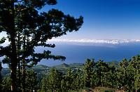 Spanien, Kanarische Inseln, La Palma, Blick vom Berg Las Moradas