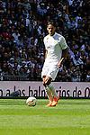 Real Madrid´s Raphael Varane during 2014-15 La Liga match between Real Madrid and Eibar at Santiago Bernabeu stadium in Madrid, Spain. April 11, 2015. (ALTERPHOTOS/Luis Fernandez)