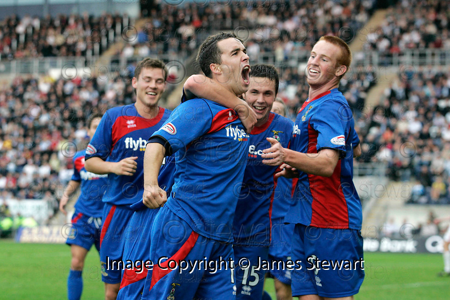 30/08/2008  Copyright Pic: James Stewart.File Name : sct_jspa14_falkirk_v_ict.DOUGLAS IMRIE CELEBRATES SCORING CALEY'S WINNER....James Stewart Photo Agency 19 Carronlea Drive, Falkirk. FK2 8DN      Vat Reg No. 607 6932 25.James Stewart Photo Agency 19 Carronlea Drive, Falkirk. FK2 8DN      Vat Reg No. 607 6932 25.Studio      : +44 (0)1324 611191 .Mobile      : +44 (0)7721 416997.E-mail  :  jim@jspa.co.uk.If you require further information then contact Jim Stewart on any of the numbers above........