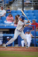 St. Lucie Mets first baseman Patrick Mazeika (11) at bat during a game against the Dunedin Blue Jays on April 19, 2017 at Florida Auto Exchange Stadium in Dunedin, Florida.  Dunedin defeated St. Lucie 9-1.  (Mike Janes/Four Seam Images)