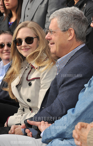 Actress Amanda Seyfried & producer Cameron Mackintosh on Hollywood Blvd where actor Hugh Jackman was honored with the 2,487th star on the Hollywood Walk of Fame..December 13, 2012  Los Angeles, CA.Picture: Paul Smith / Featureflash