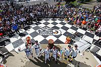 GTLM Podium, #911 Porsche GT Team Porsche 911 RSR, GTLM: Patrick Pilet, Nick Tandy, #3 Corvette Racing Corvette C7.R, GTLM: Jan Magnussen, Antonio Garcia, #67 Ford Chip Ganassi Racing Ford GT, GTLM: Ryan Briscoe, Richard Westbrook