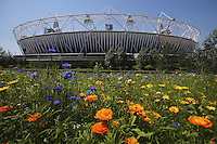 25.07.2012 London, England. The Olympic park in Stratford just two days before the official Opening Ceremony.