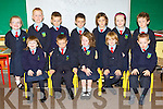 Orla O'Donoghue Junior infants class in Scoil Ide, Curranes, Castleisland enjoying school on Wednesday (the school has a no name policy)..