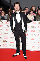 Adam Thomas at the National TV Awards 2017 held at the O2 Arena, Greenwich, London. <br /> 25th January  2017<br /> Picture: Steve Vas/Featureflash/SilverHub 0208 004 5359 sales@silverhubmedia.com