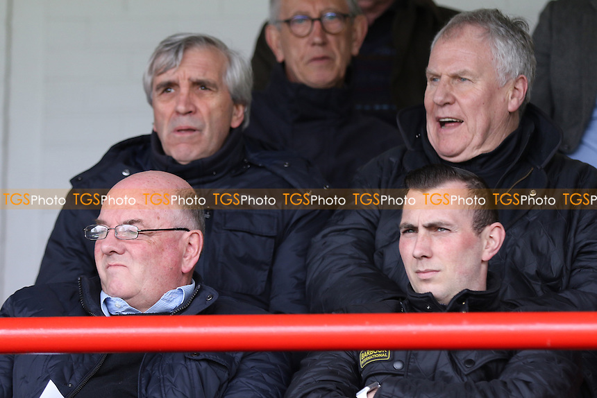 Joe Royle, former Everton player and now a member of Roberto Martinez back room staff was in the stand watching the match (second row, on the right) during Chelsea Under-21 vs Everton Under-21, Barclays U21 Premier League Football at the EBB Stadium on 2nd May 2016