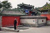 Futurs mariés près du temple du Feu, Pékin.