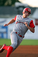 August 26 2008:  Catcher Joe Blackburn of the Williamsport Crosscutters, Class-A affiliate of the Philadelphia Phillies, during a game at Dwyer Stadium in Batavia, NY.  Photo by:  Mike Janes/Four Seam Images