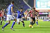 1st November 2017, St. Andrews Stadium, Birmingham, England; EFL Championship football, Birmingham City versus Brentford; Florian Jozefzoon of Brentford lines up a shot in the Birmingham City box