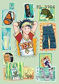 Interlitho, Nino, TEENAGERS, paintings, teenager, jeans, phone(KL3904,#J#) Jugendliche, jóvenes, illustrations, pinturas ,everyday