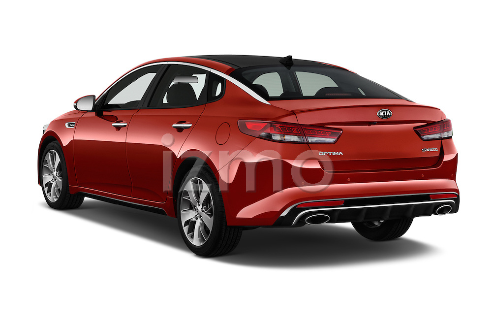 Car pictures of rear three quarter view of 2018 KIA Optima SX 4 Door Sedan Angular Rear