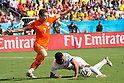 Daryl Janmaat (NED), Jean Beausejour (CHI), JUNE 23, 2014 - Football / Soccer : FIFA World Cup Brazil 2014 Group B match between Netherlands 2-0 Chile at Arena de Sao Paulo Stadium in Sao Paulo, Brazil. (Photo by Maurizio Borsari/AFLO)