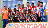 BARRANQUIILLA -COLOMBIA-9-JULIO-2014. Formacion del Atletico Junior contra El Real Cartagena  por la Copa Postobon II en el estadio Metropolitano./  Team of Atletico Junior against of Real Cartagena during  Cup II in Metropolitan Stadium Photo:VizzoImage / Alfonso Cervantes / Stringer