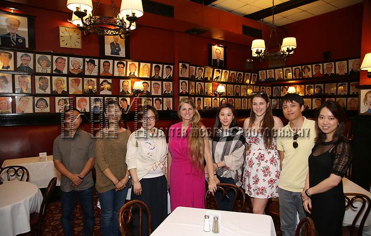 Zhiyong Liu, Zhenzhu Ma, Yanping Ma, Bonnie Comley, Xuejiao Bai, Leah Lane, Wen Chen and Qianda Rao   attend Central Academy of Drama: Professors Visit Sardi's on September 24, 2017 at the Drama League Center  in New York City.