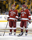 Michael Biega (Harvard - 27), Eric Kroshus (Harvard - 10) - The Northeastern University Huskies defeated the Harvard University Crimson 4-1 (EN) on Monday, February 8, 2010, at the TD Garden in Boston, Massachusetts, in the 2010 Beanpot consolation game.