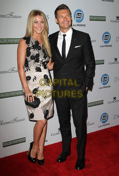 ulianne Hough and Ryan Seacrest.LA's Promise Honors Ryan Seacrest At 2011 Gala Held at A the Kodak Theatre, Hollywood, California, USA..27 September 2011.full length black white suit dress floral print sleeveless clutch bag   .CAP/ADM/KB.©Kevan Brooks/AdMedia/Capital Pictures.
