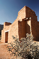 Remains of San Jose de los Jemez church dating to 1610, Jemez State Monument Heritage Area, Jemez Springs, New Mexico, USA