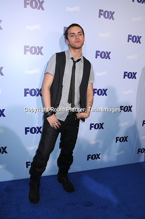 "cast of ""Terminator: The Sarah Connor Chronicles""..Thomas Dekker..posing for photographers at the FOX Upfront 2008 programming presentation on May 15, 2008 at Wollman Rink in Central Park in  New York City.....Robin Platzer, Twin Images"