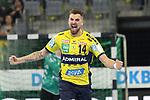Torjubel von Rhein Neckar Loewe Bogdan Radivojevic (Nr.14)  beim Spiel in der Handball Bundesliga, Rhein Neckar Loewen - VfL Gummersbach.<br /> <br /> Foto &copy; PIX-Sportfotos *** Foto ist honorarpflichtig! *** Auf Anfrage in hoeherer Qualitaet/Aufloesung. Belegexemplar erbeten. Veroeffentlichung ausschliesslich fuer journalistisch-publizistische Zwecke. For editorial use only.