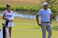 Luca Cianchetti (ITA) and caddy on the 18th hole during Saturday's Round 3 of the Porsche European Open 2018 held at Green Eagle Golf Courses, Hamburg Germany. 28th July 2018.<br /> Picture: Eoin Clarke | Golffile<br /> <br /> <br /> All photos usage must carry mandatory copyright credit (&copy; Golffile | Eoin Clarke)