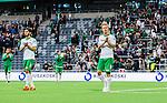 Stockholm 2014-06-18 Fotboll Superettan Hammarby IF - GAIS :  <br /> Hammarbys Erik Israelsson och Nahir Besara deppar efter matchen <br /> (Foto: Kenta J&ouml;nsson) Nyckelord:  Superettan Tele2 Arena Hammarby HIF Bajen GAIS depp besviken besvikelse sorg ledsen deppig nedst&auml;md uppgiven sad disappointment disappointed dejected