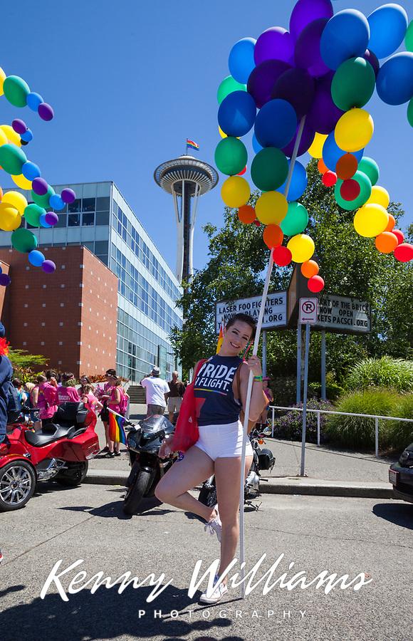 Seattle PrideFest 2016, Pride Parade and Festival, Washington, USA.