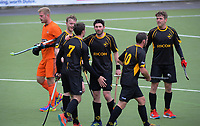Action from the 2018 men's National Hockey League match between Capital and Midlands at National Hockey Stadium in Wellington, New Zealand on Monday, 17 September 2018. Photo: Dave Lintott / lintottphoto.co.nz
