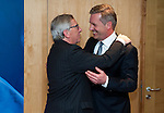 Brussels-Belgium - February 04, 2015 -- Jean-Claude JUNCKER (le), President of the European Commission, receives Christian WULFF (ri), former Federal President of Germany -- Photo: © HorstWagner.eu
