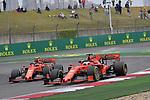 14.04.2019, Shanghai Audi International Circuit, Shanghai, 2019 FORMULA 1 HEINEKEN CHINESE GRAND PRIX<br /> im Bild<br />Sebastian Vettel (GER#5), Scuderia Ferrari &uuml;berholt Charles Leclerc (MCO#16), Scuderia Ferrari<br /> <br /><br /> <br /> Foto &copy; nordphoto / Bratic