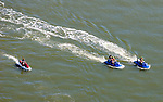 AErial views of Wave Runners and Surfers outside of Ocean City, NJ