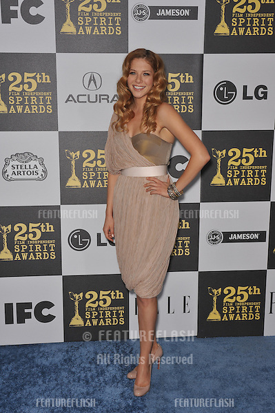 Rachelle Lefevre at the 25th Anniversary Film Independent Spirit Awards at the L.A. Live Event Deck in downtown Los Angeles..March 5, 2010  Los Angeles, CA.Picture: Paul Smith / Featureflash