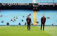 Burnley players inspect the pitch at the Etihad Stadium ahead of kick-off<br /> <br /> Photographer Rich Linley/CameraSport<br /> <br /> Emirates FA Cup Fourth Round - Manchester City v Burnley - Saturday 26th January 2019 - The Etihad - Manchester<br />  <br /> World Copyright © 2019 CameraSport. All rights reserved. 43 Linden Ave. Countesthorpe. Leicester. England. LE8 5PG - Tel: +44 (0) 116 277 4147 - admin@camerasport.com - www.camerasport.com