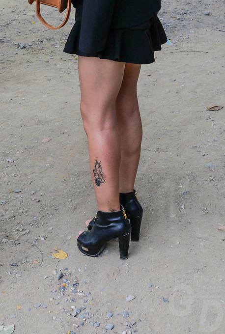 Sexy legs at Phra Nakhon Si Ayutthaya, Thailand