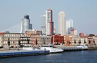 Skyline van Rotterdam.  De wijk Katendrecht