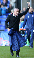Ipswich Town manager Paul Lambert greets the home fans before kick off<br /> <br /> Photographer David Shipman/CameraSport<br /> <br /> The EFL Sky Bet Championship - Ipswich Town v Preston North End - Saturday 3rd November 2018 - Portman Road - Ipswich<br /> <br /> World Copyright &copy; 2018 CameraSport. All rights reserved. 43 Linden Ave. Countesthorpe. Leicester. England. LE8 5PG - Tel: +44 (0) 116 277 4147 - admin@camerasport.com - www.camerasport.com