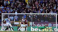 Burnley's Joe Hart is beaten as Huddersfield Town's Christopher Schindler (obscured by No.24) scores his side's equalising goal to make the score 1-1<br /> <br /> Photographer Rich Linley/CameraSport<br /> <br /> The Premier League - Burnley v Huddersfield Town - Saturday 6th October 2018 - Turf Moor - Burnley<br /> <br /> World Copyright &copy; 2018 CameraSport. All rights reserved. 43 Linden Ave. Countesthorpe. Leicester. England. LE8 5PG - Tel: +44 (0) 116 277 4147 - admin@camerasport.com - www.camerasport.com