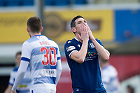 1st February 2020; Cappielow Park, Greenock, Inverclyde, Scotland; Scottish Championship Football, Greenock Morton versus Dundee Football Club; Graham Dorrans of Dundee reacts after missing a great chance