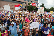 Moral Monday protest at the North Carolina State Legislature in Raleigh.