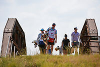 Alena Sharp (CAN) makes her way across the bridge to the tee on 2 during the round 2 of the Volunteers of America Texas Classic, the Old American Golf Club, The Colony, Texas, USA. 10/4/2019.<br /> Picture: Golffile | Ken Murray<br /> <br /> <br /> All photo usage must carry mandatory copyright credit (© Golffile | Ken Murray)